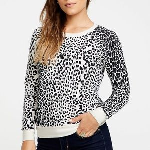 Chaser Leopard Animal Print Sweatshirt Pullover M